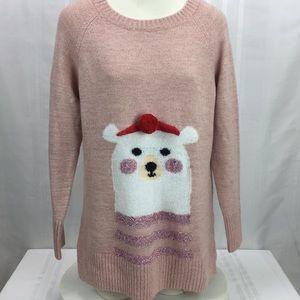 Lauren Conrad Holiday Graphic Tunic Sweater Medium